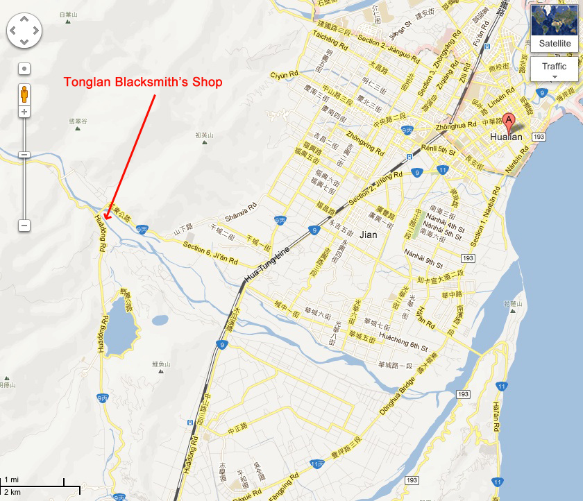 Tonglan Blacksmith Shop Map