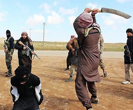 ISIS Beheading for Blasphemy